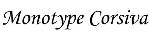 Font chữ Monotype Corsiva